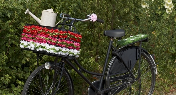 fietskrat bloemenslingers