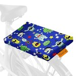 Fietskussen monsters donkerblauw