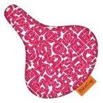 zadelhoes bikecap letters roze