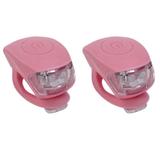 Urban Proof siliconen LED fietslampjes warm roze_