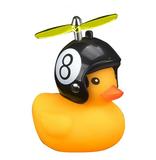 Bad eend met helm fietslamp/toeter 8 ball (met propeller)_