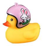 Bad eend met helm fietslamp/toeter konijn_