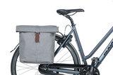 Dubbele fietstassen Basil City grijs gemeleerd_