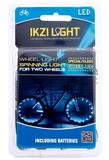 Fietswielverlichting LED groen voor 2 fietswielen_