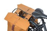 Dubbele fietstassen Basil City camel bruin/Leverbaar vanaf 02-05-2021_