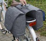 Afneembare fietstassen Avero jeans grijs_