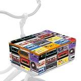 fietskrat + hoes cassettebandjes