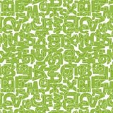 Fietskussen letters groen_