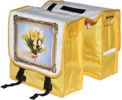 Fietstassen schilderij gele tulpen - Niet verkeerd!