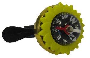 Fietsbel kompas met wijzer (goud/geel)