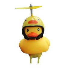 Bad eend met helm fietslamp/toeter (met propeller)