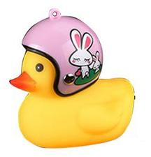 Bad eend met helm fietslamp/toeter konijn