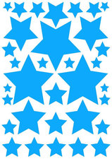 Fietsstickers sterren hemelsblauw