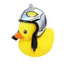 Bad eend met helm fietslamp/toeter piloot