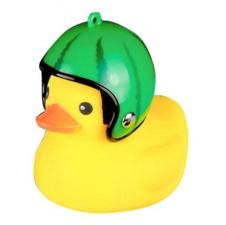 Bad eend met helm fietslamp/toeter watermeloen