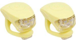 Urban Proof siliconen LED fietslampjes pastel geel