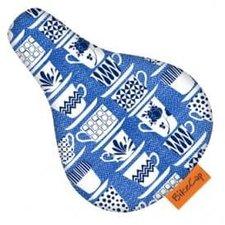 Zadelhoesje kinderfiets kopjes blauw