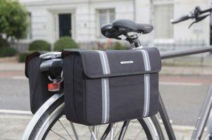 Dubbele fietstassen Bolzano zwart
