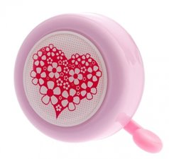Fietsbel roze hart