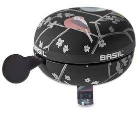 Basil Dingdong fietsbel Wanderlust charcoal/zwart