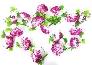 Bloemenslinger fietsslinger grote bloemen paars