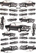 Fietsstickers auto zwart 168
