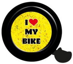 Fietsbel I love my bike (zwart)