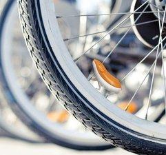 Fietsdecoratie: Hamster in fietswiel