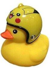 Bad eend met helm fietslamp/toeter geel