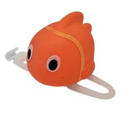 Oranje vis fietslamp/fietstoeter