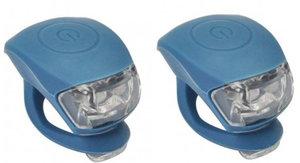 Urban Proof siliconen LED fietslampjes jeans blauw