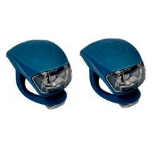 Urban Proof siliconen LED fietslampjes donkerblauw