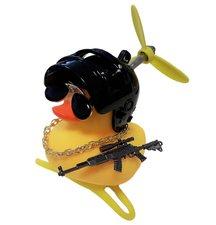 Badeend fietslamp/toeter gangster zwart (met propeller)