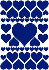 Fietsstickers hartjes blauw