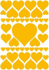 Fietsstickers hartjes geel