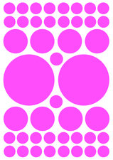Fietsstickers kleine en grote stippen roze