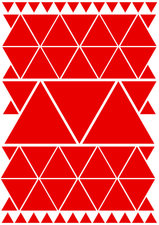 Fietsstickers driehoeken rood