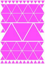 Fietsstickers driehoeken roze