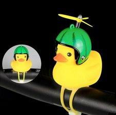 Bad eend met helm fietslamp/toeter watermeloen (met propeller)