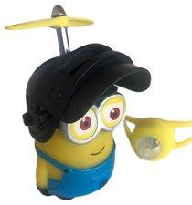 Fietsverlichting/fietstoeter figuurtje met helm