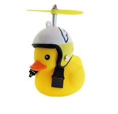 Badeend wings met helm fietslamp/toeter (met propeller)