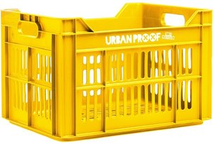 Urban Proof fietskrat oker geel