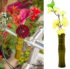 Vaasje voor fietsstuur bamboe groen