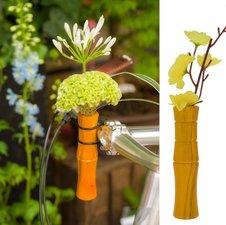 Vaasje voor fietsstuur bamboe geel
