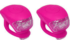 Urban Proof siliconen LED fietslampjes roze