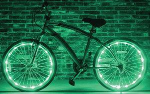 Fietswielverlichting LED groen voor 2 fietswielen