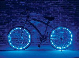 Fietswielverlichting LED blauw (voor 2 fietswielen)
