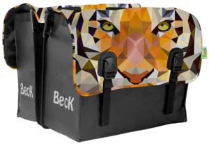 XXL Fietstassen tijger origami (65 liter)
