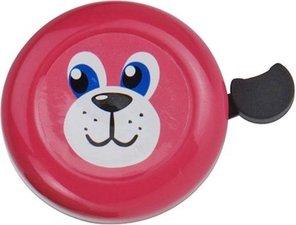 Fietsbel hond roze