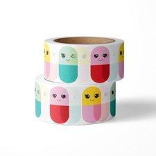 Studio Inktvis Masking tape Happy pills